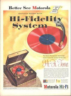 Motorola Hi Fi System Page LIFE October 12 1953