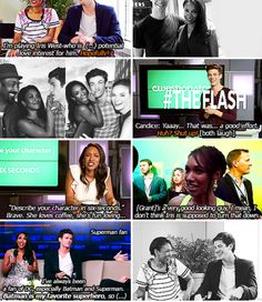 The Flash - Grant Gustin and Candice Patton