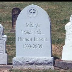 headstone in a cemetery photo picture of crazy weird gravestone tombstone in a creepy cemetery with a funny epitaph if you lived here youd be home now