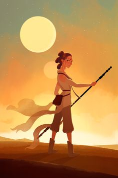 The Force Awakens-Rey Final Piece for Kickstarter Exclusive Print! ONE DAY…