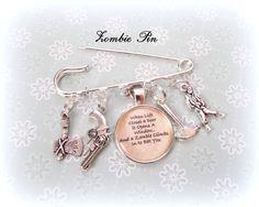 Zombie Lover Gift Walking Dead Gift Sci-Fi by HopeisHipJewelry
