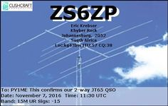 eQSL From zs6zp