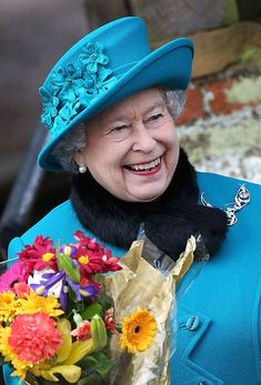 Queen attends Christmas service at Sandringham with Prince Philip senior members of royal family - 2012