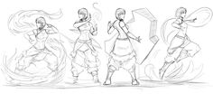 retooled so toph and zuko could fit in there. this sketch started the og team avatar: fav.me/d6ibzmf credit to for creating the clean lines to avatar aang originally. update: adding in more permane...