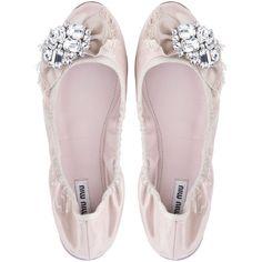 Miu Miu Ballerinas ($650) ❤ liked on Polyvore