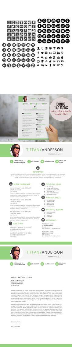 Professional Design Word CV Modern resume template, Modern resume