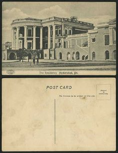Vintage British Indian Picture Postcard, The Residency, Hyderabad, Dn. Picture Postcards, Old Postcards, Colonial Architecture, Architecture Details, Rare Photos, Old Photos, Time India, Indian Pictures, History Classroom