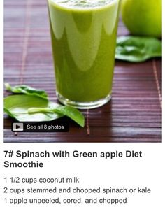 Spinach, nut milk and apple smoothie recipe
