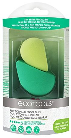 EcoTools Perfecting Blender Duo 2 Beauty Sponges for Flawless Foundation Coverage - Skincare Best Beauty Blender Dupe, Beauty Blender Sponge, Beauty Sponge, Makeup Sponge, Flawless Foundation, No Foundation Makeup, Online Shopping, Blending Sponge, Amazon Beauty Products