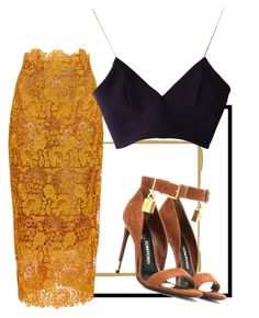 Untitled #4 by adwalah on Polyvore featuring polyvore fashion style Joana Almagro Monique Lhuillier Tom Ford clothing