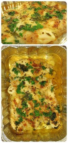 Swai Fillets baked in a White Wine Lemon Garlic Sauce - super easy delicious seafood on a budget    from http://www.babaganosh.org