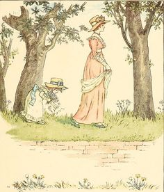 Kate Greenaway 1910 from The Marigold Garden - The Daisies