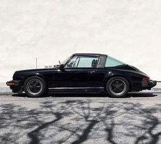 #Elegant Car Porsche 911 Targa, Porsche Boxter S, Porsche 911 Classic, Black Porsche, Porsche Cars, Porsche Singer, Classic Motors, Classic Cars, Retro Cars