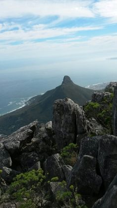 Lions Head from Table Mountain, South Africa