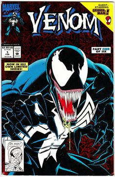Marvel Comics (Retro): Venom: Lethal Protector Cover Art by Marvel is printed with premium inks for brilliant color and then hand-stretched over museum quality stretcher bars. Money Back Guarantee AND Free Return Shipping. Rare Comic Books, Online Comic Books, Comic Books Art, Comic Art, Comic Book Superheroes, Venom Comics, Marvel Venom, Marvel Comics Art, Marvel Villains