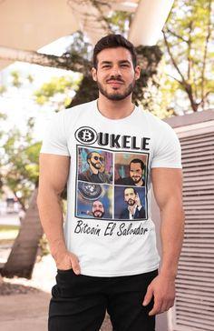 Bukele coin t-shirt, El Salvador t-shirt, Senor presidente by SIVAR ESTILO Prism Color, Ash Color, Urban Fashion, Fashion Photo, Fabric Weights, Unisex, Mens Tops, T Shirt, Spun Cotton