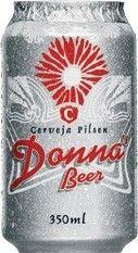 Cerveja Donna's Bier, estilo Standard American Lager, produzida por INAB - Indústria Nacional de Bebidas, Brasil. 4% ABV de álcool.