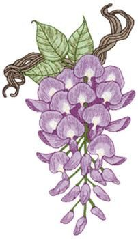 Floral Embroidery Design: Wisteria from Dakota Collectibles