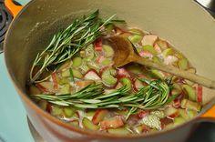 rhubarb rosemary jam by Marisa | Food in Jars now, i hope my rhubarb will produce something edible.