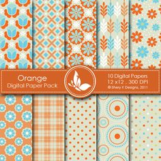 This listing is for 10 printable High Quality Digital papers.    Each paper measures 12 x 12 inch, 300 DPI, JPEG format.    Great for scrapbooking, making cards, invitations, tags and photographers.
