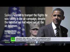 Breaking : Obama Blames Cameron For 'Mess' in Post Gaddafi ' Libya