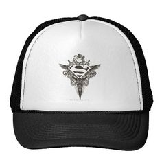 Superman Stylized | Star and Skull White Logo. Producto disponible en tienda Zazzle. Accesorios, moda. Product available in Zazzle store. Fashion Accessories. Regalos, Gifts. #gorra #hat #heroe #hero #american