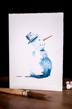 christmas art Unique watercolor Christmas gift, The perfect gift! - christmas art Unique watercolor Christmas gift, The perfect gift! Watercolor Christmas Cards, Christmas Drawing, Christmas Paintings, Watercolor Cards, Watercolor Paintings, Simple Watercolor, Tattoo Watercolor, Watercolor Trees, Watercolor Animals