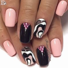 smart & beautiful winding & water marble nails - Reny styles