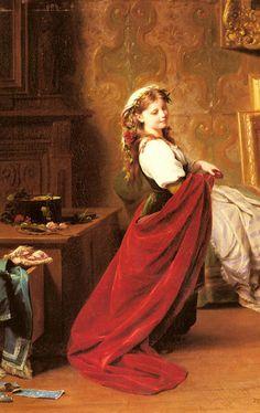 Dressing Up. Fritz Zuber-Buhler (1822 – 1896, Swiss)