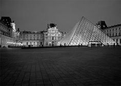 5x7 Print - Night at the Louvre