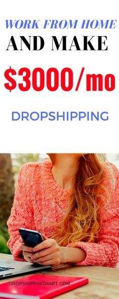 Dropshipping business is the one of best side hustle. It doesn't take a lot of time and it's a great way to make money from home.  It's perfect for people working a nine to five or busy moms.