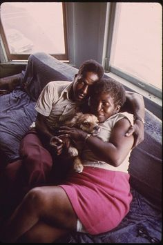 Black Couple And Their Dog In Their Apartment In South Side Chicago, 06/1973 Photo: John H. White/EPA