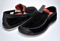 Crocs WALU Men's Size 9.5 Casual Boat Shoes Black Suede Leather Loafer  #Crocs…
