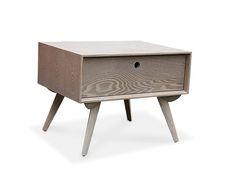 Sweden Bed Side    Grey Ash Veneer or Black Wenge Veneer Drawer For Storage