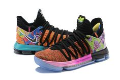 Nike KD 10 What The PE Multi Color Mens Original Basketball Shoes 2018 For  Sale Kevin fb1c14017