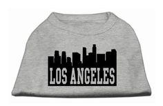 Los Angeles Skyline Screen Print Shirt Grey XXXL (20)