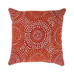 Mosaic Toss Pillow Collection - Flame Quick Information $44