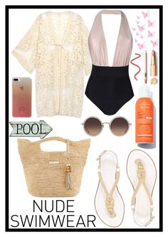 """Bare It All: Nude Swimwear"" by erliza on Polyvore featuring Sumarie, MICHAEL Michael Kors, Heidi Klein, Linda Farrow and Kate Spade"
