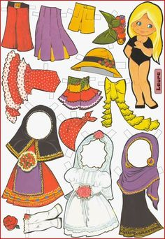 Paper dolls Maria Pascual / Paper dolls by Maria Pascual / Paper dolls / Beybiki. Clothes for dolls Paper Toys, Paper Crafts, Paper Dolls Clothing, Vintage Paper Dolls, Lol Dolls, Toy Craft, Doll Head, Sweet Memories, Doll Clothes Patterns