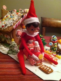 Riding the gingerbread candy train
