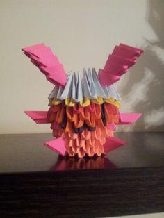 ORIGAMI 3D. Bunny Ball Multicolor, piezas de 6x4.