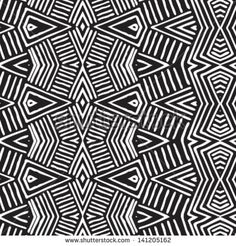 Vector African pattern (seamlessly tiling). Seamless pattern can be used for wallpaper, pattern fills, web page background,surface textures. seamless background - stock vector