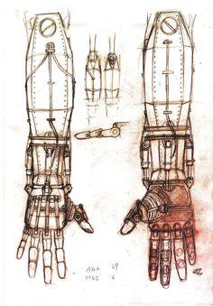 Mechanical arm by ~Darsim on deviantART - Bea's arm
