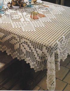 Crochet Tablecloth Pattern, Crochet Doilies, Hand Crochet, Crochet Lace, Crochet Bag Tutorials, Diy Crafts Crochet, Crochet Projects, Thread Crochet, Crochet Scarves
