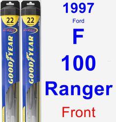 Front Wiper Blade Pack for 1997 Ford F-100 Ranger - Hybrid