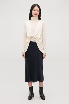 Knot-Detail Jersey Top | Endource