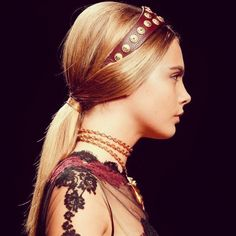Headbands - the perfect hair accessory for simply styled hair- Cara Delevingne.