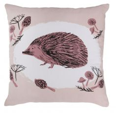 Magpie Hedgehog Fauna Cushion - Magpie from Mollie & Fred UK Shabby Chic Cushions, Vintage Cushions, Home Fashion, Baby Hedgehog, Dolls Prams, Old Farm, Magpie, Soft Furnishings, Cushion Covers