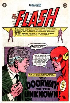 "A classic Flash ghost story, ""Doorway to the Unknown"" (Flash #148)"