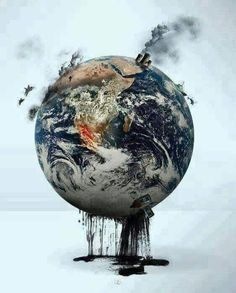 What do you feel when you see this? It made me tear up. Our beautiful earth looking so horribly abused.